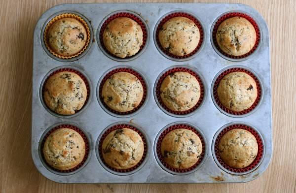 choc cherry muffins 3